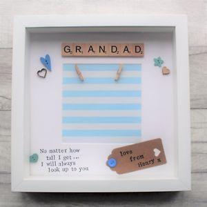 Personalised Handmade Frame Christmas Present Gift Grandad Grandpa Grandparents Grandad Gift Handmade Christmas Gifts Handmade Frames