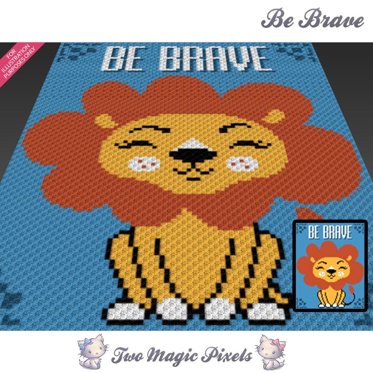 Be Brave C2C Crochet Graph   Pinterest