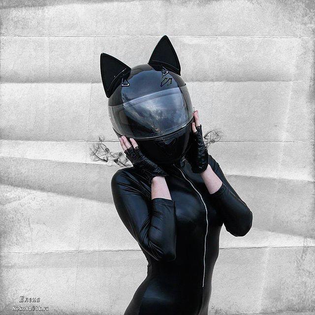 Cat Ears Motorcycle Helmet Anime