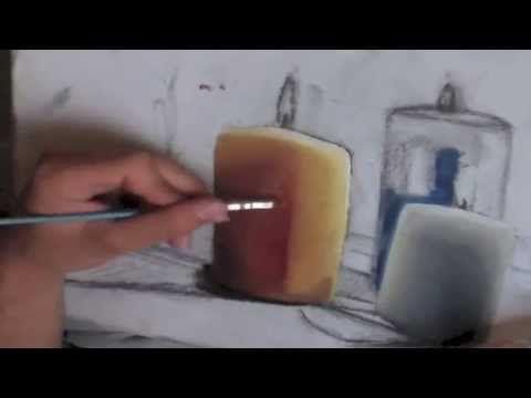 Peinture À L'Huile : Comment Peindre Une Bougie - Youtube | Clairs
