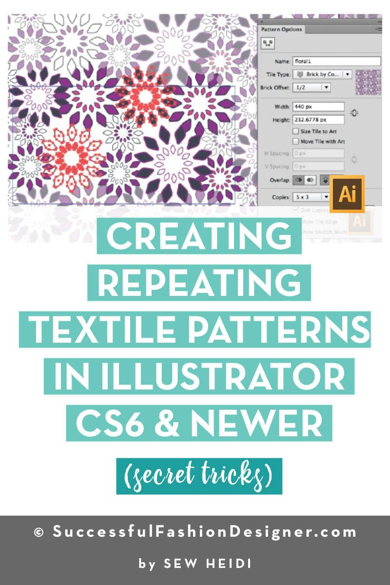 Creating Repeating Textile Patterns In Illustrator Cs6 Newer