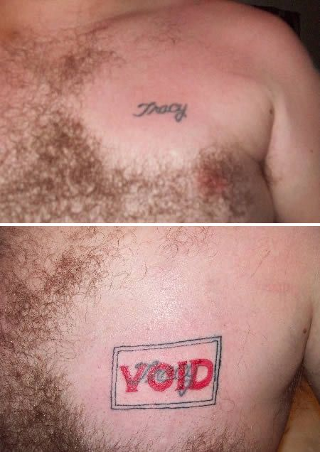 too funny!!!Tattoo Cover Up Ideas   ... Cover Up Tattoos - Oddee.com (cover up tattoos, cover up tattoos ideas