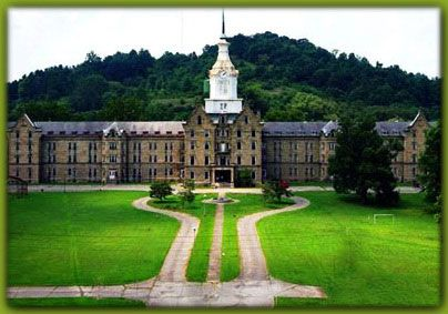 The Trans-Allegheny Lunatic Asylum, constructed between 1858 and 1881, is the largest hand-cut stone masonry building in North America, and is purportedly the second largest in the world, next to the Kremlin.