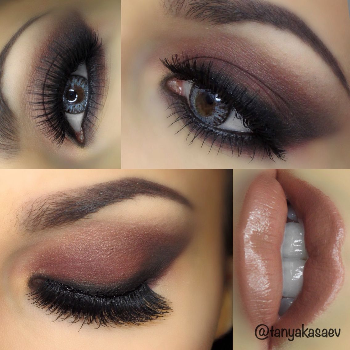 Earth tones warm makeup look for brown or blue eyes