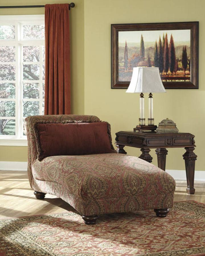 $436 Ashley 9430015 Ledelle DuraBlend Chaise with Plush Seat Cushion ...