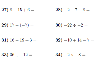 Operations with positive and negative numbers 2 worksheet with operations with positive and negative numbers 2 worksheet with answers a worksheet on addition subtraction multiplication and division between positive ibookread Read Online