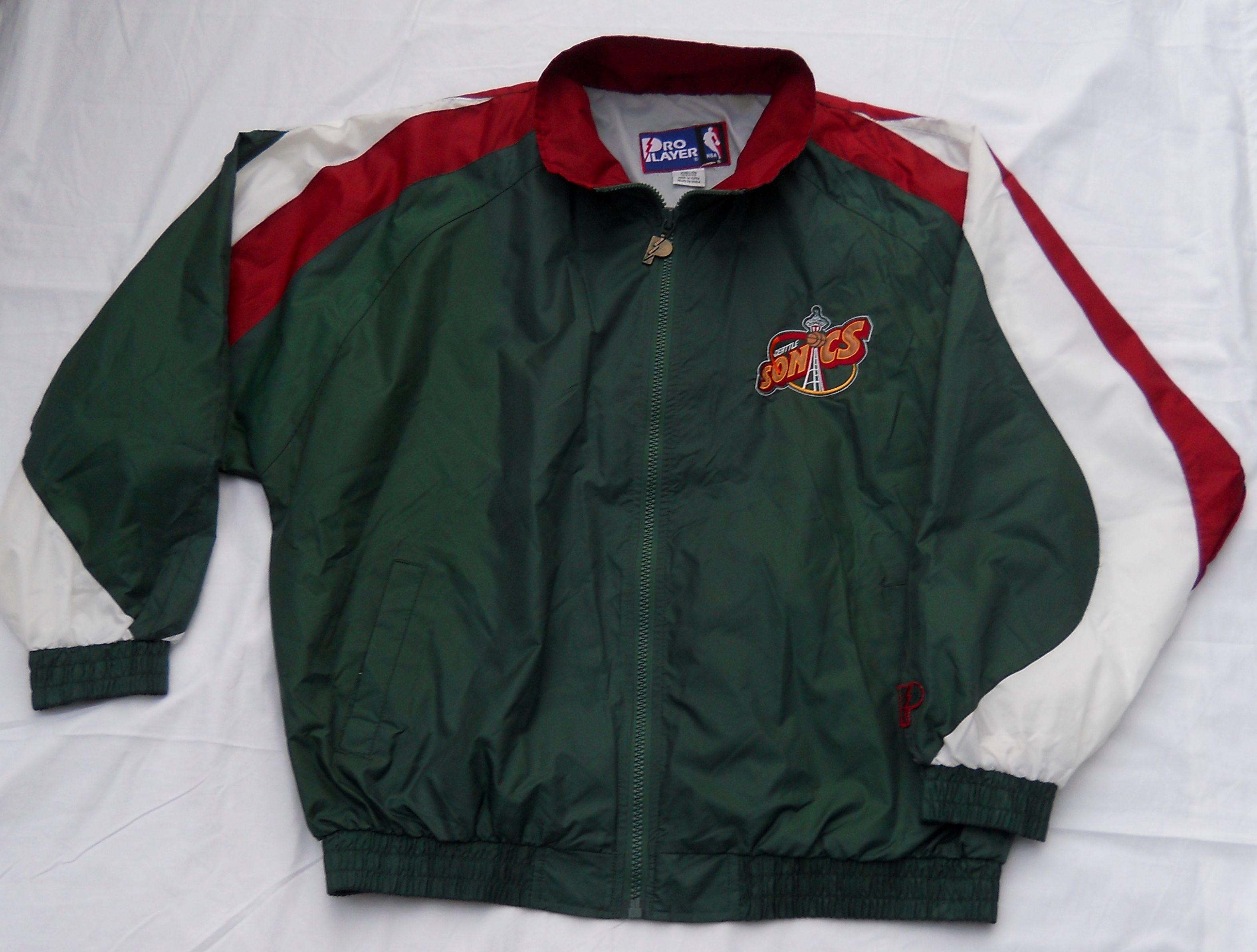 652683997 Vintage late 90s Seattle Supersonics full zip windbreaker jacket by ...