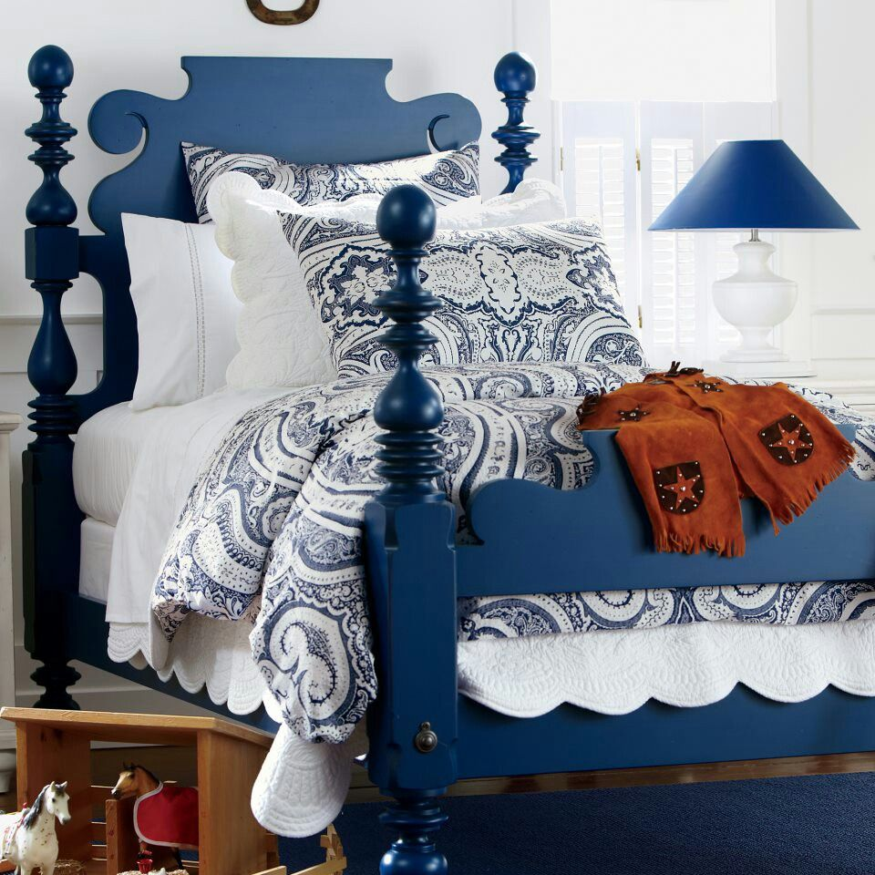 Blue Frames 50 Best Photos Painted Bed Frames Painted Beds