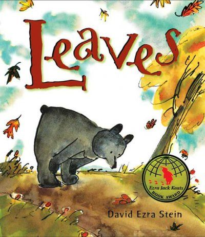 Leaves by David Ezra Stein - A sweet book about a young bear who doesn't understand what is happening when he sees leaves falling from the trees. He even tries to put them back on but it doesn't work. Eventually he lays down for a nap and hibernates until Spring when he happily notices that there are new tiny leaves budding on the trees ≈≈