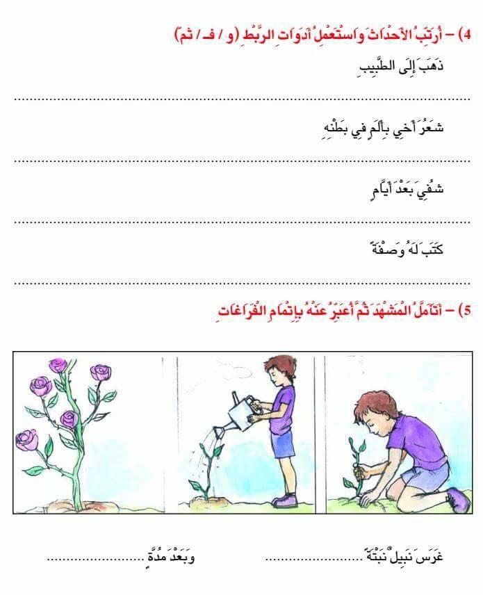تمارين مختلفة للسنة الثانية في الانتاج الكتابي أدوات الربط موارد المعلم Stories For Kids Blog Posts Education