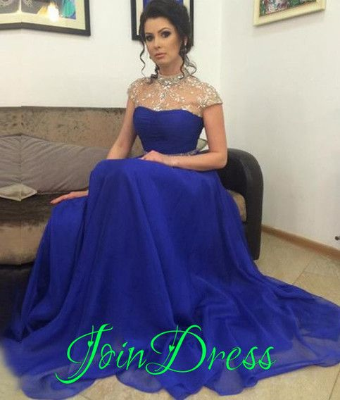 78024561f8f Royal Blue Chiffon Prom Dresses
