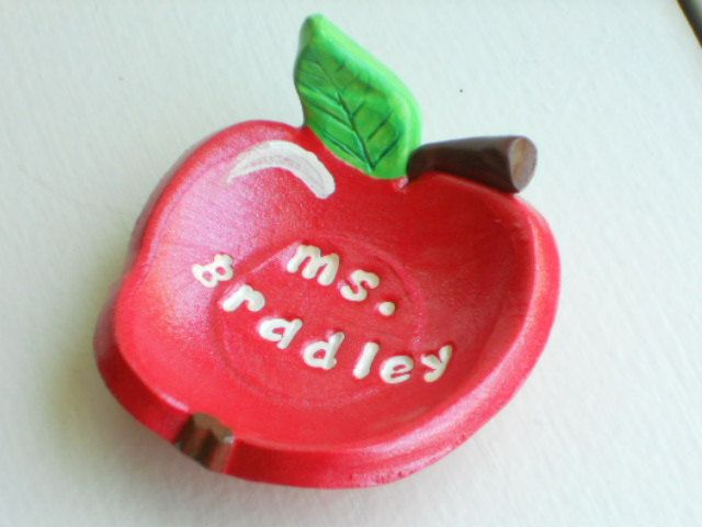 Personalized Gift for Teacher-paperclip dish