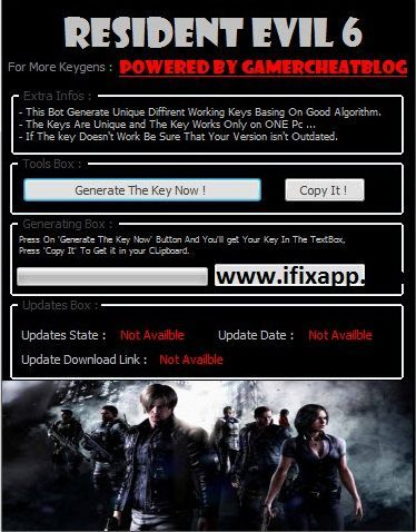 resident evil password keygen 6