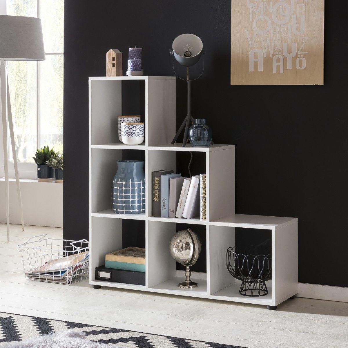 Wohnling Stufenregale WL5.157 weiß #Raumteiler #Einrichtung #Möbel ...