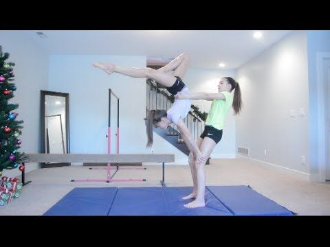2 person acro stunts  acro dance cheerleading stunt
