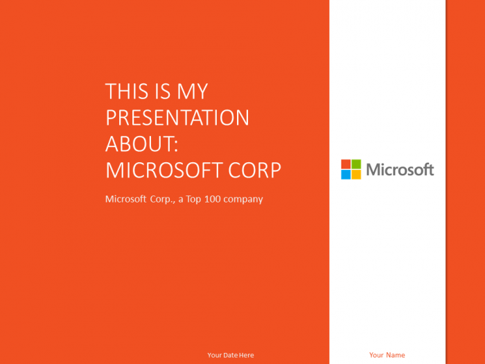 free microsoft powerpoint template orange | top 100 global, Presentation templates