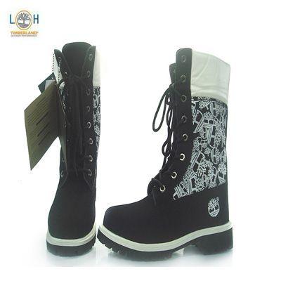 Womens High Top Timberland Boots Black