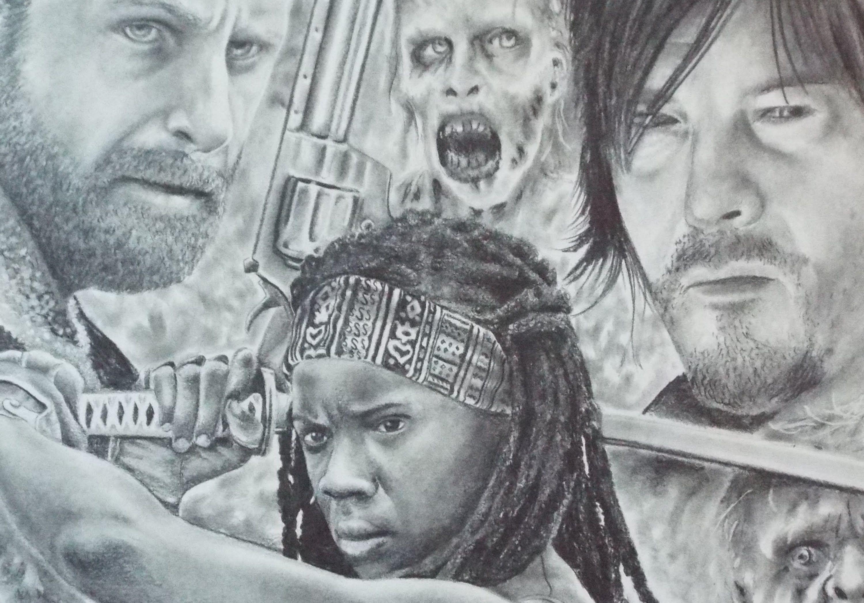 Rick And Daryl Walking Dead Drawings Zwookiez 39