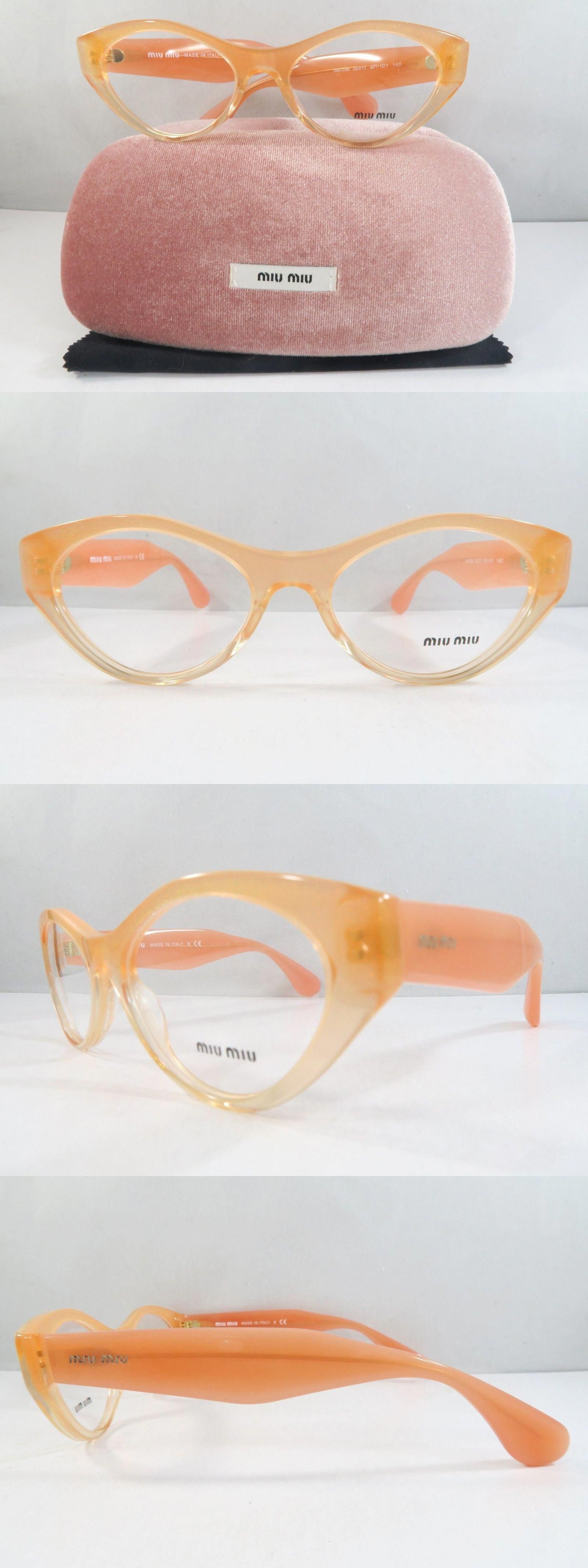 af0b13f99c7f Eyeglass Frames 180957  Miu Miu Vmu 03M Qfi-1O1 Peach Gradient New  Authentic Eyeglasses 52Mm With Case -  BUY IT NOW ONLY   85 on eBay!  MiuMiu