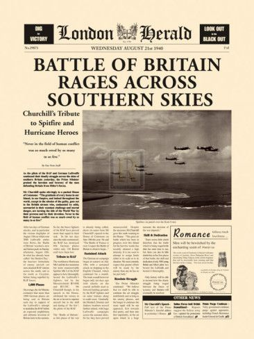 Battle Of Britain Rages Prints History Classroom Ideas