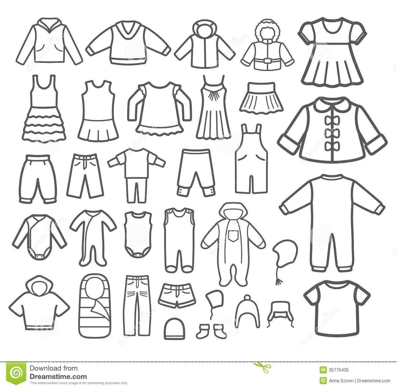 Clothes clipart black and estausten pinterest