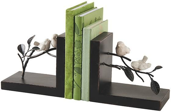 Bird On Branches Bookends Set Of 2 Unique Bookends Gifts For Book Lovers Decorative Bookends Homedecorat Decorative Bookends Unique Bookends Bookends