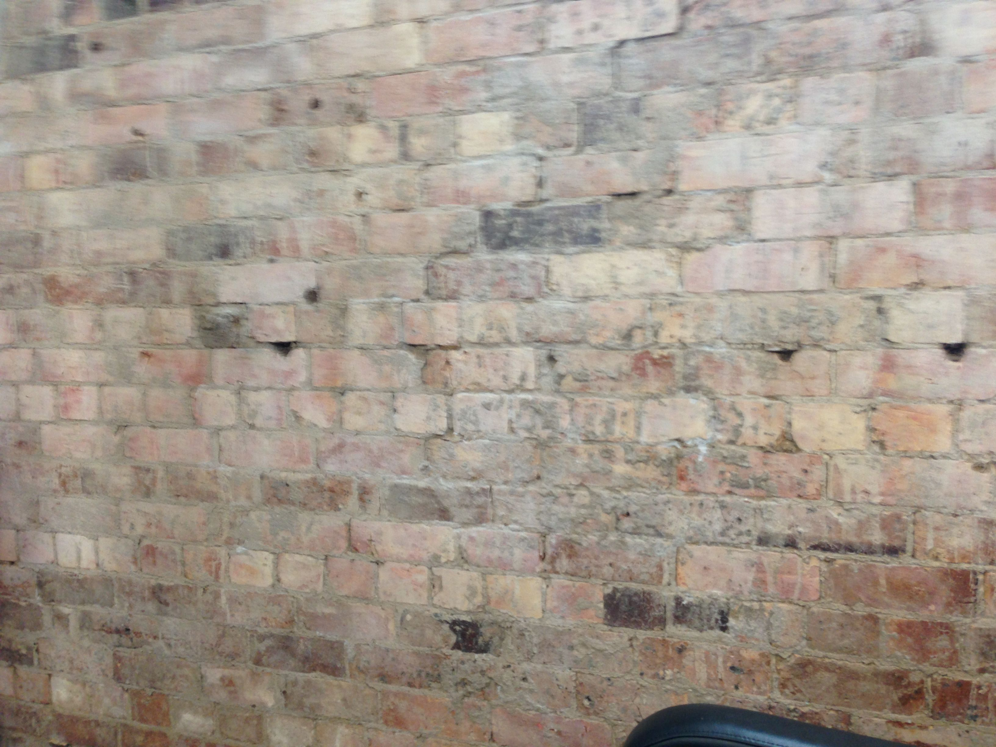 Bleach Washed Brick Wall