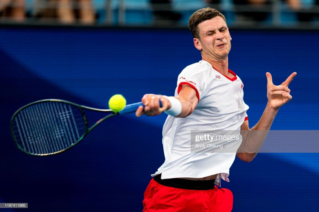 News Photo Hubert Hurkacz Of Poland Plays A Forehand During In 2020 Poland Video Site Play