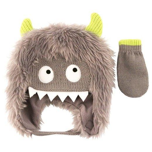 82c0ee59784 Boys  Faux Fur Monster Hat and Mitten Set - Cat   Jack™   Target ...