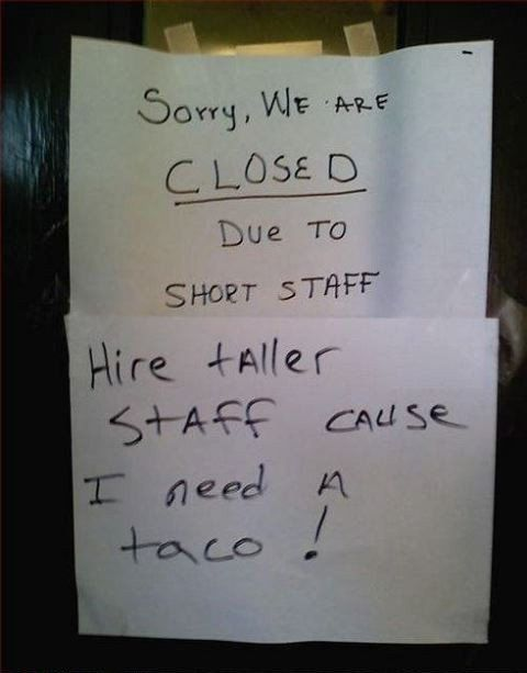 cuz when you want a taco, you want a taco!