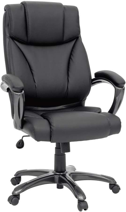 Best Office Chair For Back >> Sauder Gruga Executive Leather Desk Chair Products Upholstered
