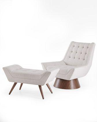 Magnificent Whitaker Chair Ottoman By Jonathan Adler At Neiman Marcus Lamtechconsult Wood Chair Design Ideas Lamtechconsultcom