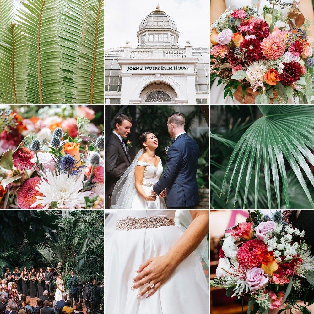 Brooke + Mark in 2020 Franklin park conservatory wedding
