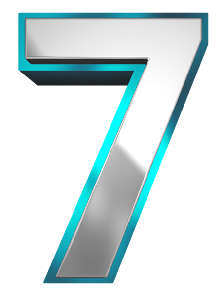 Metallic And Blue Number Seven Png Clipart Image Clip Art Alphabet Design Typographic Design