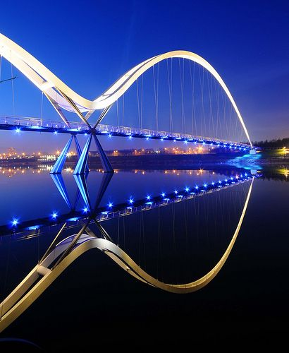 Infinity Bridge, Stockton-on-Tees, Northeast England