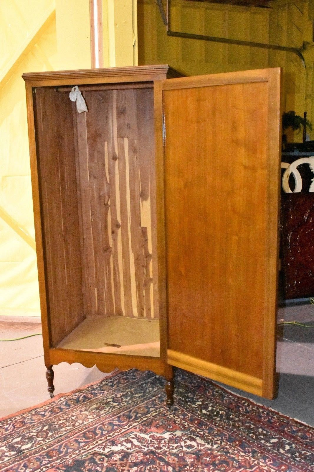 Antique Large Cedar Wardrobe Closet Bedroom Armoire With Key By  TheGreenSceneAntique On Etsy