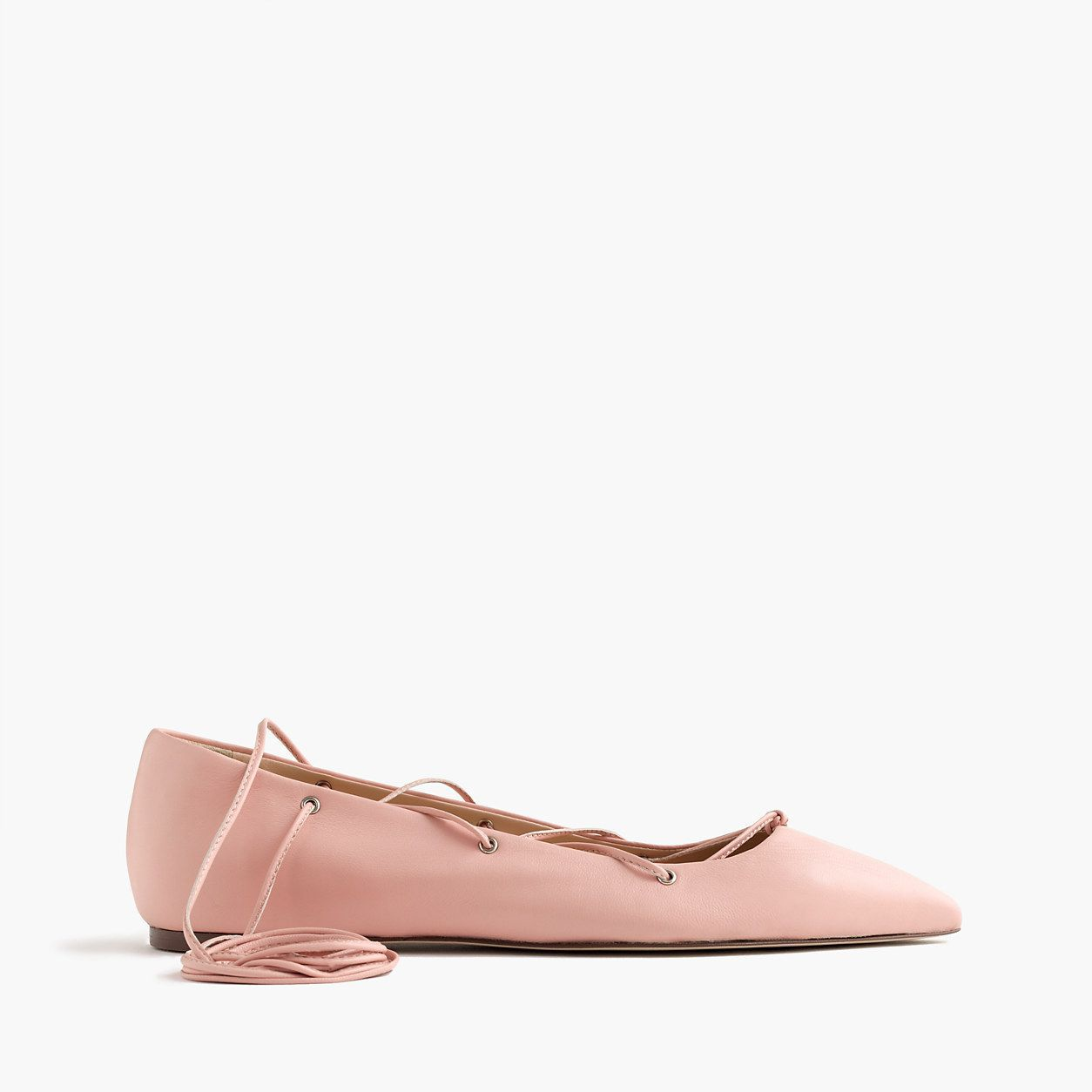 J.Crew Womens Leather Lace-Up Ballet Flats (Size 6 M)