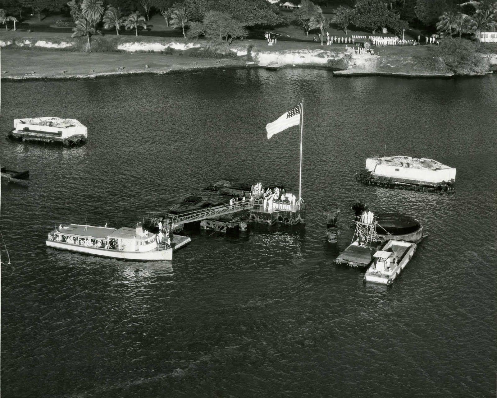 1957Dec7 Where the USS Arizona Memorial will be