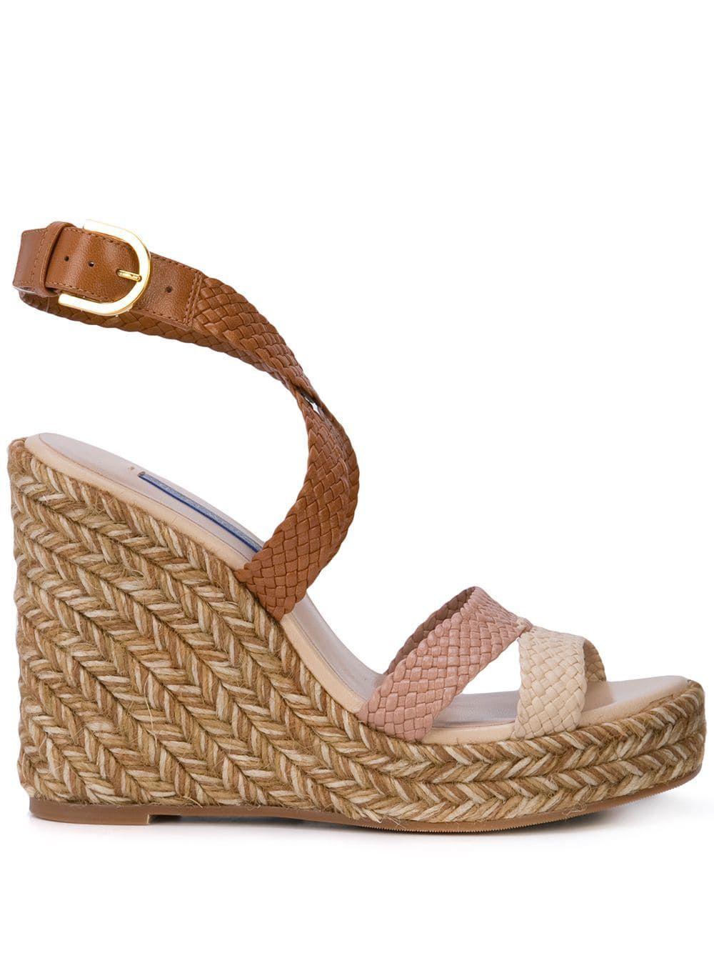 50774dc5c03 Stuart Weitzman Elsie wedge sandals - Brown in 2019   Products ...