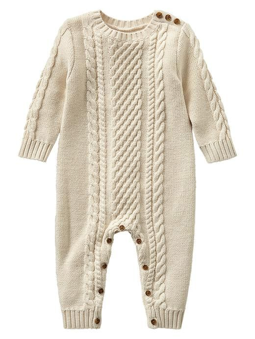 Cable Knit One Piece Product Image Baby Franks Cable