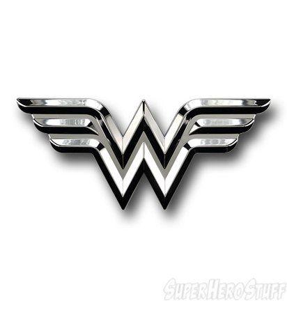 Wonder Woman Chrome Symbol Car Emblem Wonder Woman Monsters And Cars