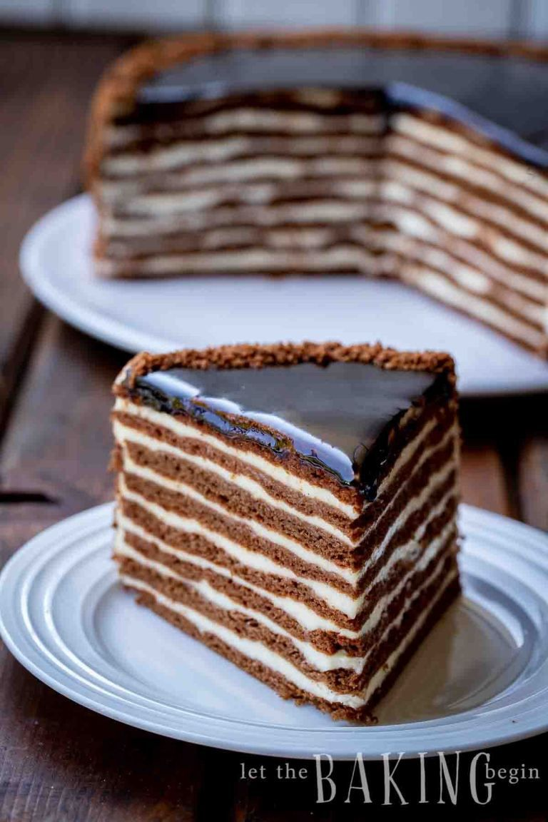 This Easy Russian Honey Cake Is Made With Sour Cream Layers And Plenty Of Chocolate Flavor It S So Good Russ Honey Cake Recipe Russian Honey Cake Honey Cake