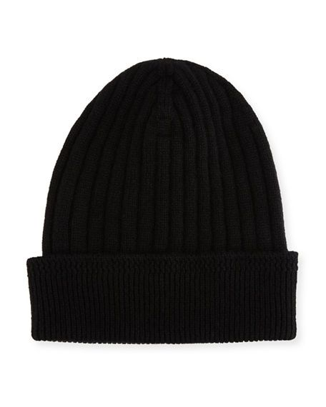 a8ece70d343ab TOM FORD RIBBED CASHMERE BEANIE HAT
