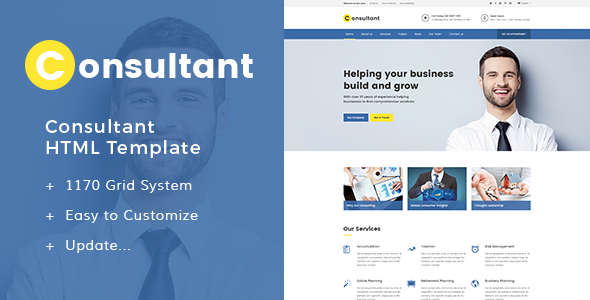 Consultant - Multipurpose Corporate Template | Website-Templates ...