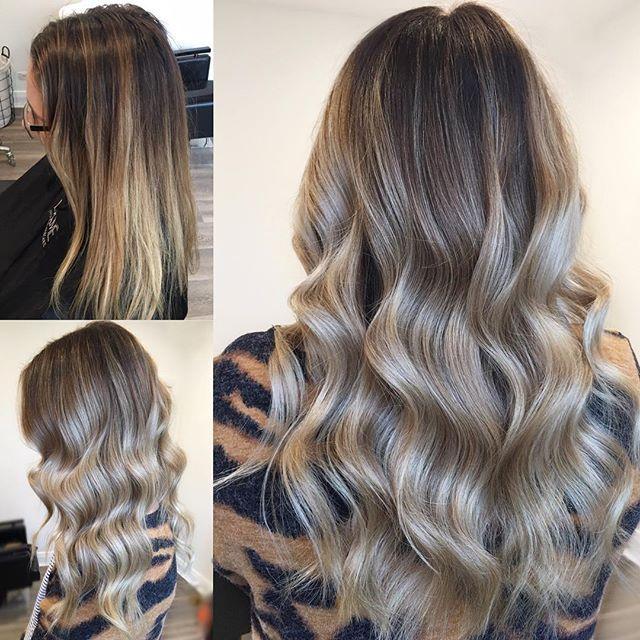Before And After Half Head Babylights Scattered Wellahair Blondor 6 Olaplex Lakmecolour Toner Dry Off Hair 8 Long Hair Trim Hair Hair Inspiration Color