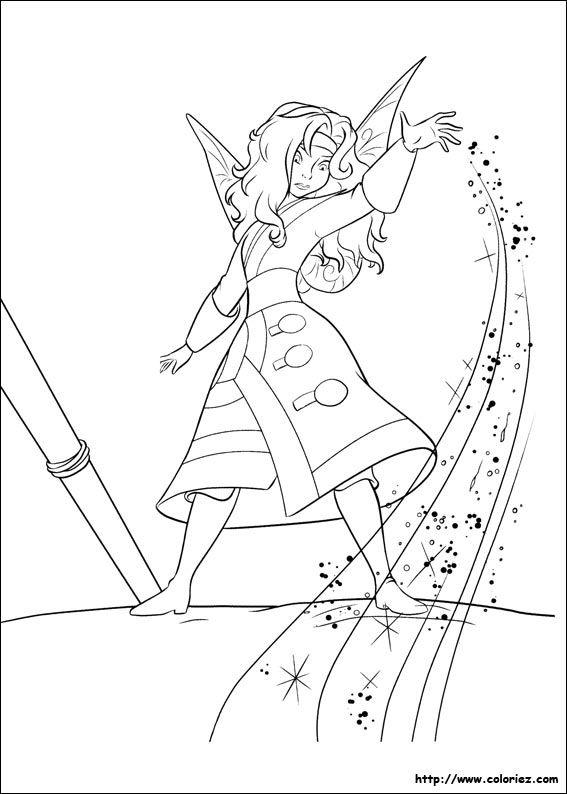 coloriage la fée clochette | coloring image | Pinterest ...