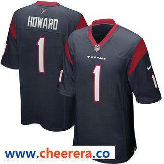 Wholesale Men's Houston Texans #1 Tytus Howard 2019 NFL Draft First Round Pick  for sale
