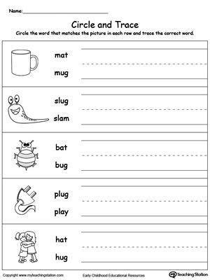 Early Childhood Reading Worksheets Word Family Worksheets Word Families Words