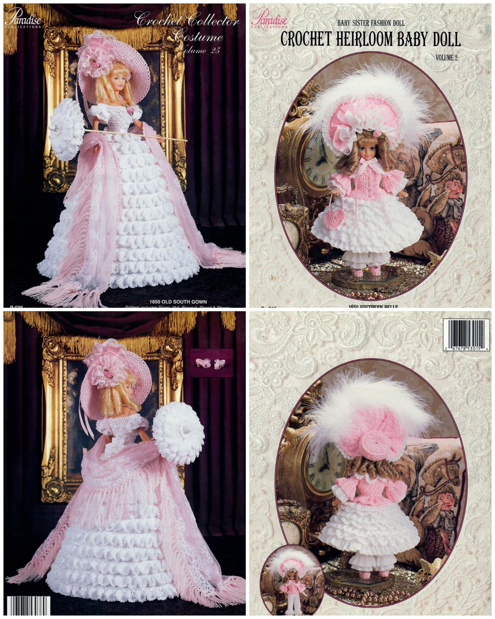 Crochet Collector Costume Old South Gown