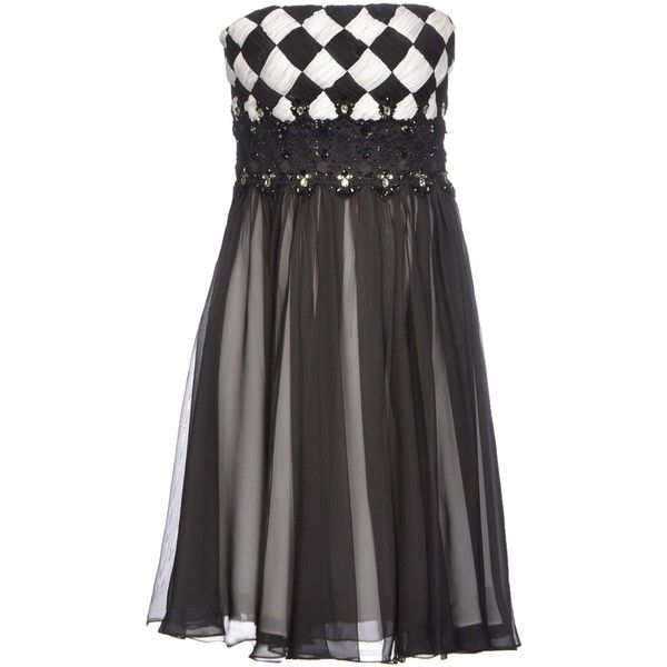 Forever Unique Short Dress ($310) ❤ liked on Polyvore featuring dresses, black, sequin mini dress, sequin cocktail dresses, black mini dress, short black cocktail dresses and mini dress